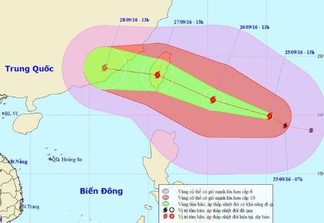 Xuất hiện bão mạnh giật cấp 14 gần Biển Đông 1