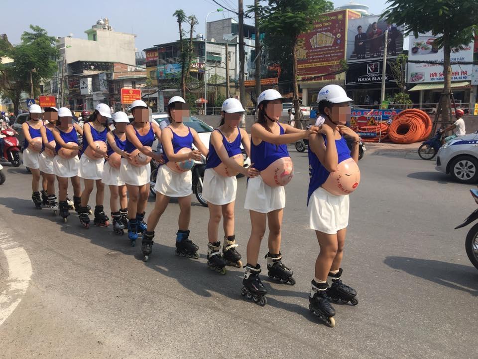 Sở VH&TT Hà Nội xử lý nghiêm vụ đeo bụng bầu giả trượt patin náo loạn 1
