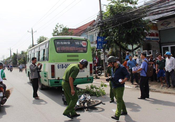Gây tai nạn chết người, tài xế xe buýt bỏ trốn khỏi hiện trường 1