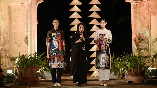 NTK Lan Hương mang BST lấy ý tưởng từ tranh Đông Hồ đến Festival Áo dài Hà Nội 2016 7