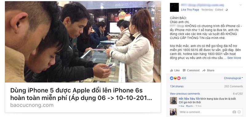 Cảnh báo: Lừa đảo đổi iPhone cũ lấy iPhone mới miễn phí 2