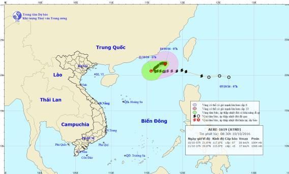 Bão số 6 suy yếu thành áp thấp nhiệt đới 1