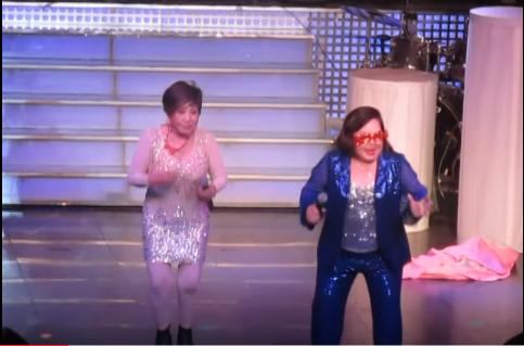Nghệ sĩ Ngọc Giàu và Hồng Nga nhảy hip hop và đọc rap trên nền nhạc ca cổ 1