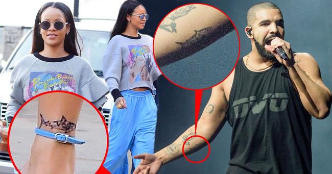 R tin drake rihanna chia tay v c ng i y u m i for Rihanna and drake matching tattoos