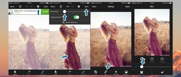 5 ứng dụng hỗ trợ tạo ảnh xóa phông tương tự iPhone 7 Plus 3