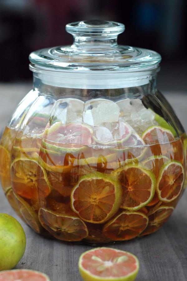 Cách ngâm chanh đào mật ong chữa ho  2