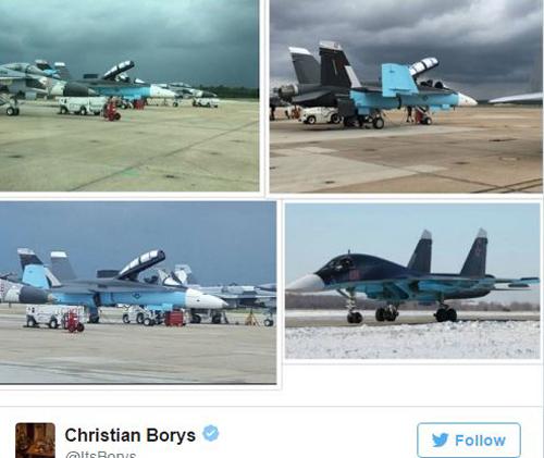 Tranh cãi việc tiêm kích Mỹ sơn màu giống máy bay Nga ở Syria 1