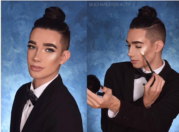 Giải trí - Chàng trai 17 tuổi đẹp lạ với lối trang điểm