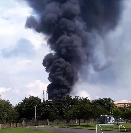 Nổ lớn, khói bốc ngùn ngụt trong công ty Vedan 1
