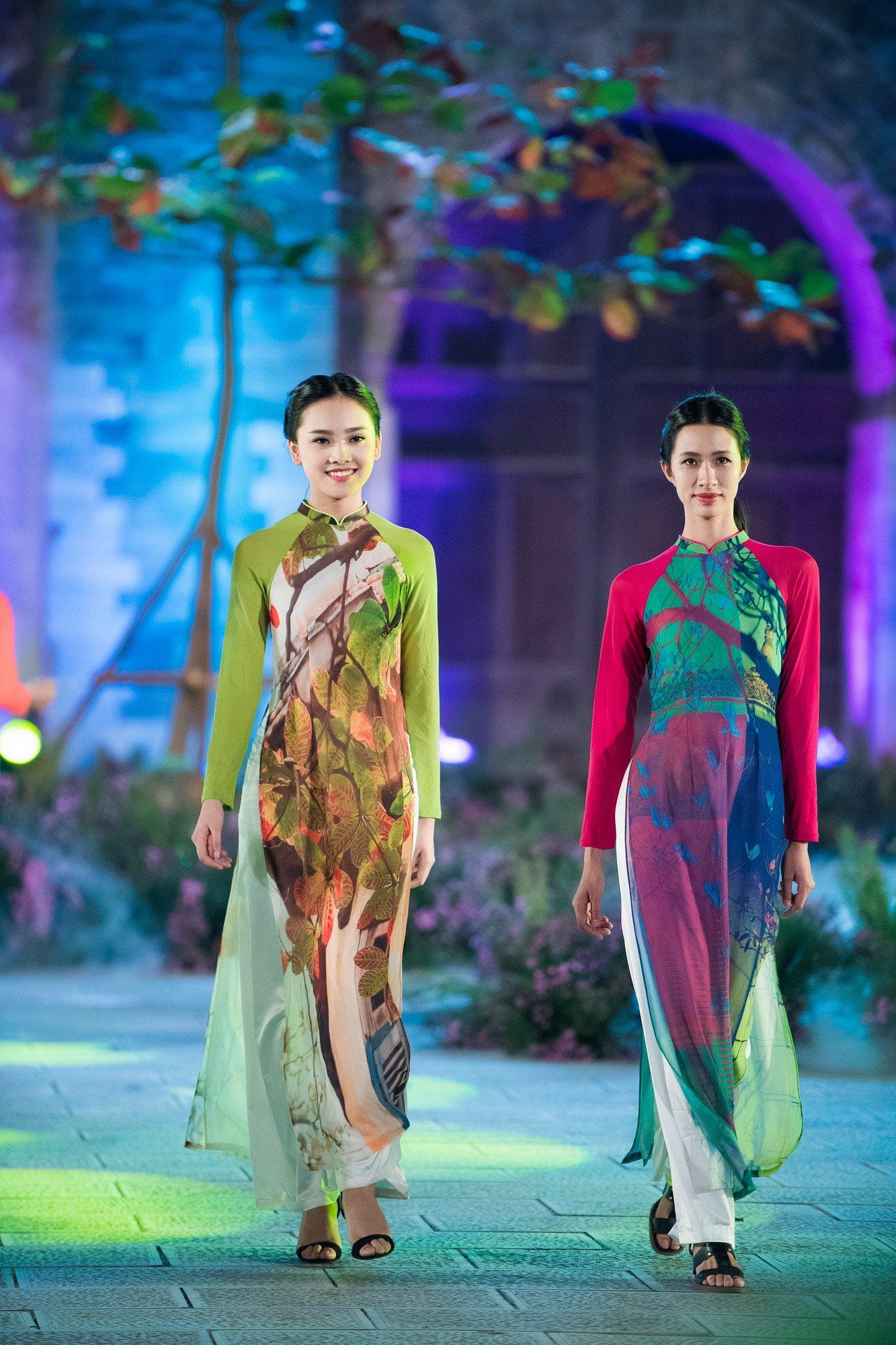 Hàng trăm mẫu áo dài được trình diễn trong Festival Áo dài Hà Nội 2016 7