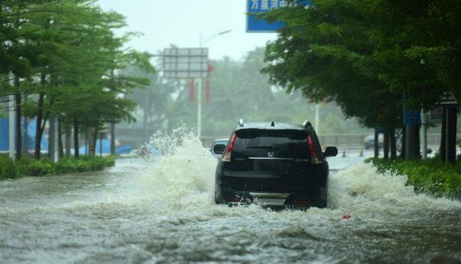 Chùm ảnh: Bão Sarika vừa càn quét đảo Hải Nam, Trung Quốc 3