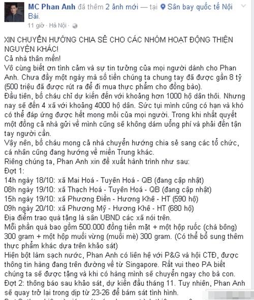 MC Phan Anh tới Đà Nẵng, công bố số tiền ủng hộ lên tới gần 8 tỷ 6