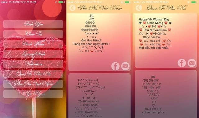 6 ứng dụng nhắn gửi lời yêu thương dành cho ngày Phụ Nữ Việt Nam 6