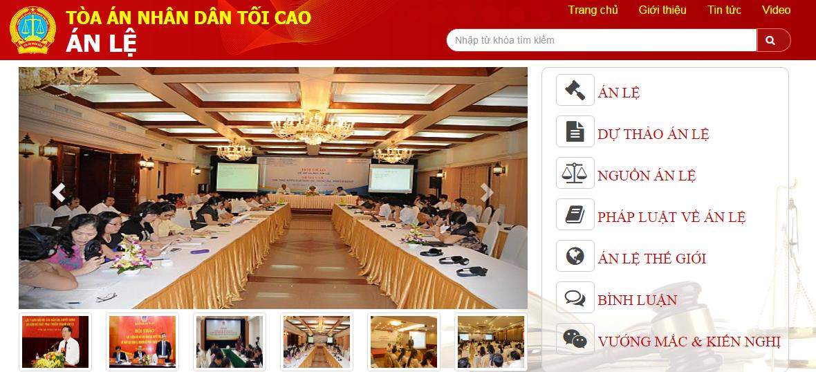 Trang tin điện tử Án lệ của TAND tối cao chính thức hoạt động 1