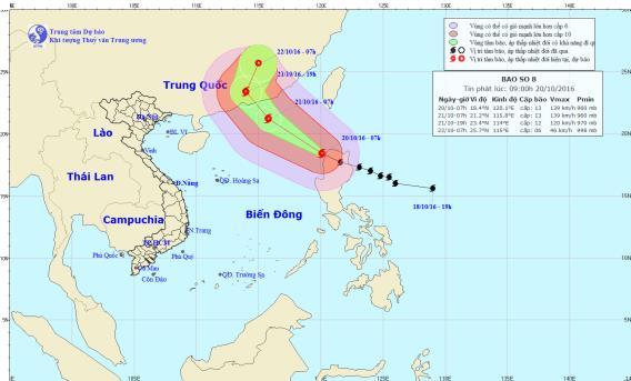 Bão số 8- bão Haima giật cấp 16 vào Biển Đông 1