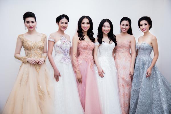Hoa hậu Mỹ Linh bất ngờ diện váy cưới 5