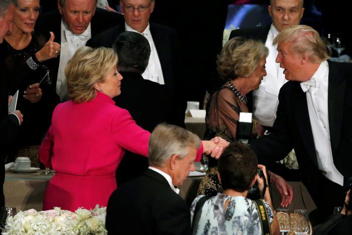 Những câu nói hài hước của Trump và Clinton trong lần gặp mặt mới nhất 3