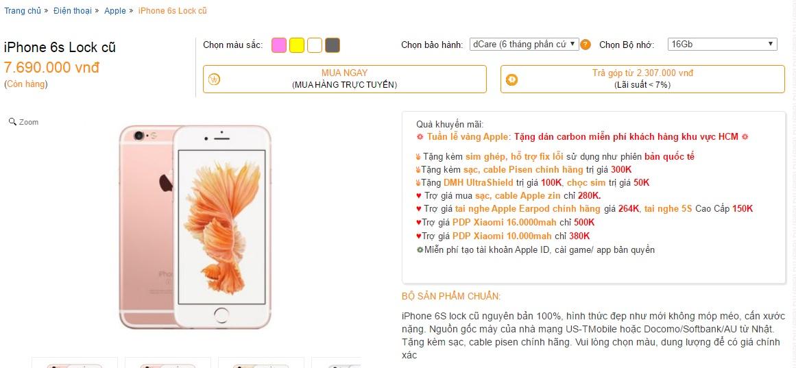 Hình Ảnh Iphone 6s Lock Giá Hơn 7 Triệu: Chủ Cửa Hàng Lên Tiếng Số