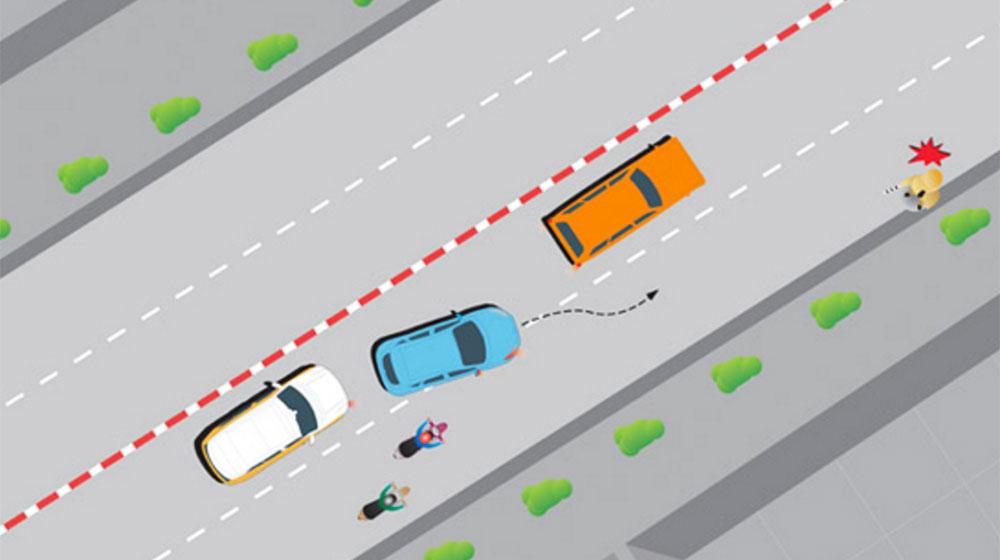 Ôtô vượt phải bị phạt bao nhiêu? 1