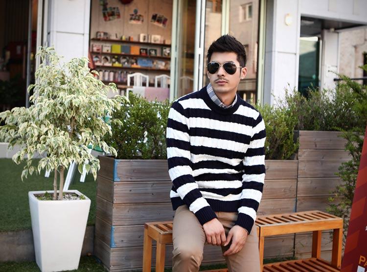 4 mẹo chọn áo len nam phù hợp với dáng người 1