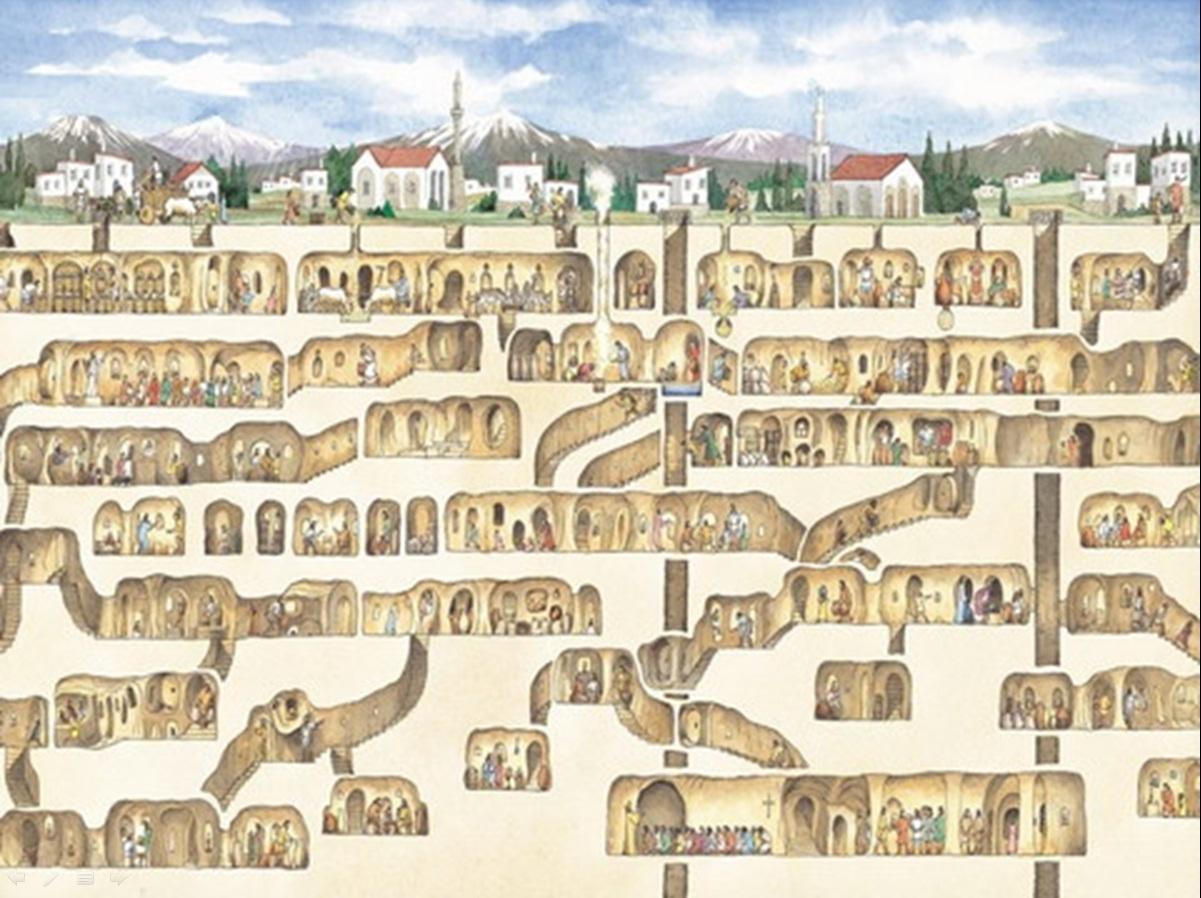 Khám phá các thành phố dưới lòng đất nổi tiếng thế giới 1