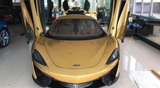 Đại gia dấu tên sở hữu siêu xe McLaren 12 tỷ đồng dát vàng độc bản ở Việt Nam 2