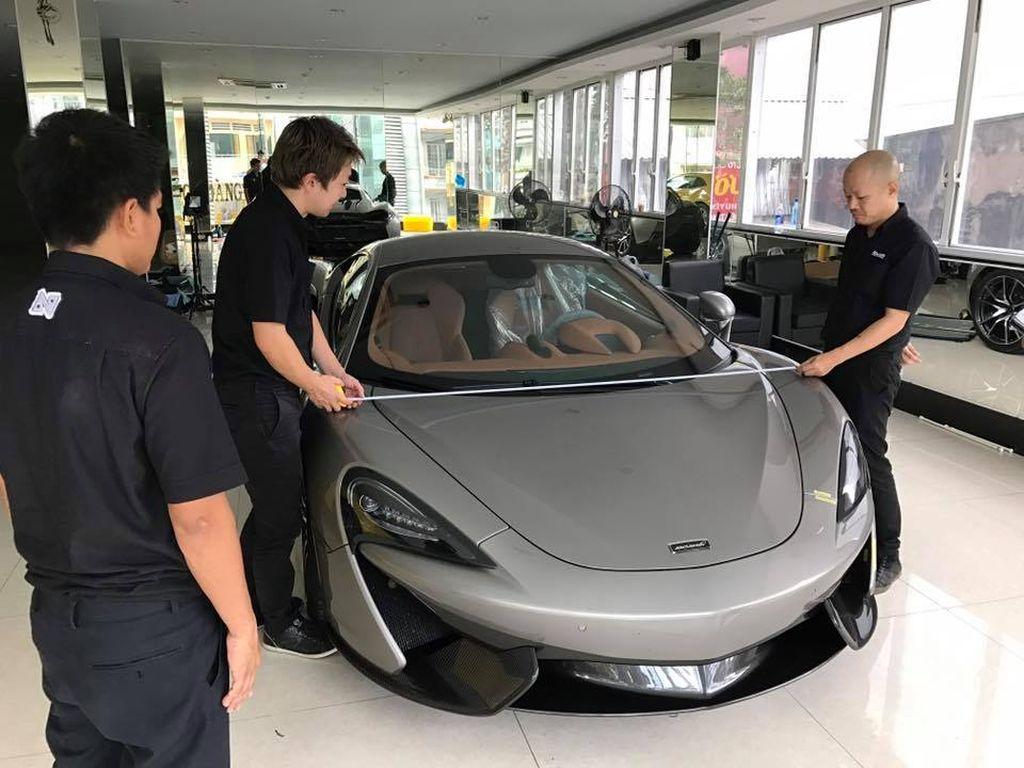 Đại gia dấu tên sở hữu siêu xe McLaren 12 tỷ đồng dát vàng độc bản ở Việt Nam 1