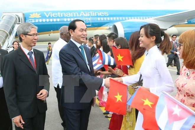 Chủ tịch nước Trần Đại Quang bắt đầu chuyến thăm chính thức Cuba 1