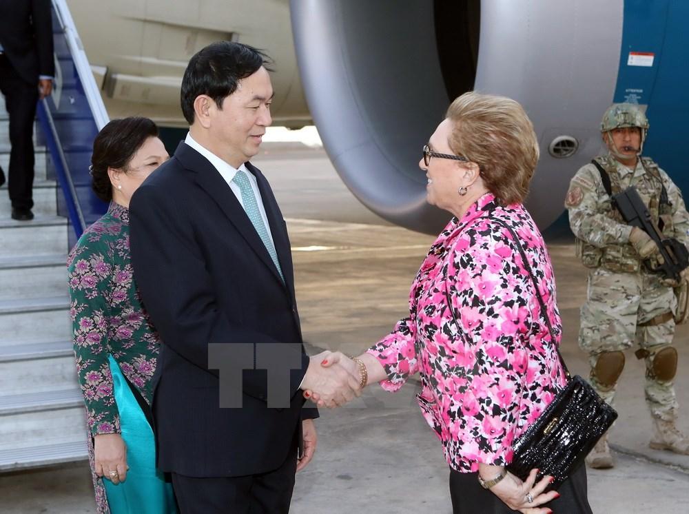 Chủ tịch nước Trần Đại Quang đặt chân đến Peru dự APEC 24 2