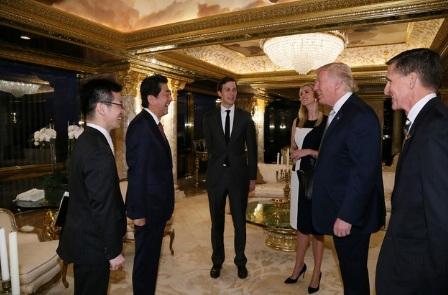 Tổng thống đắc cử Trump hào hứng khoe ảnh chụp cùng Thủ tướng Nhật 4