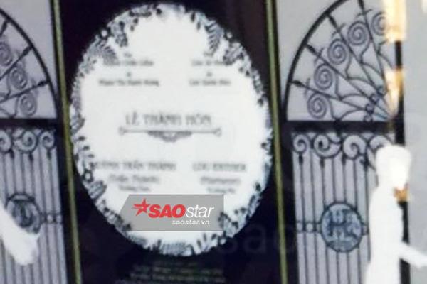 Lộ thiệp cưới của Trấn Thành và Hari Won, đám cưới tổ chức 25/12 1