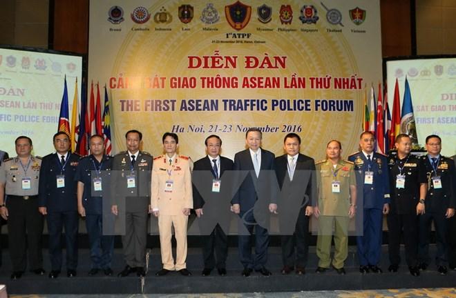Diễn đàn Cảnh sát giao thông ASEAN lần thứ nhất khai mạc tại Hà Nội 2