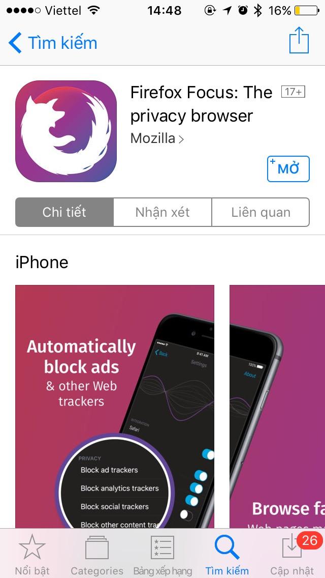Ứng dụng chặn mọi quảng cáo khi duyệt web trên iPhone 3