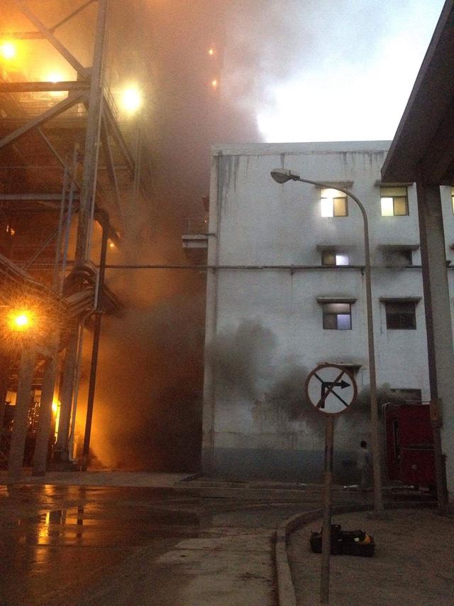 Hơn 1 giờ khống chế đám cháy tại Nhà máy Nhiệt điện Cẩm Phả  1