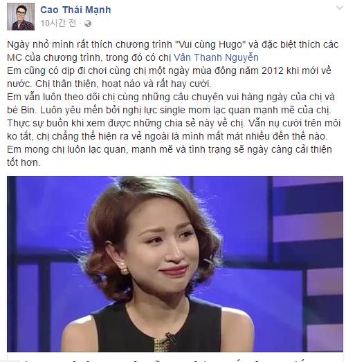 Sao Việt và khán giả đồng loạt động viên Vân Hugo 9