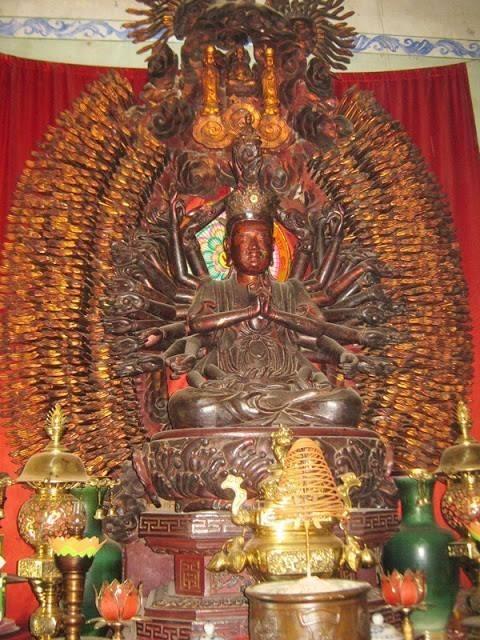 Trùng tu tượng Phật nghìn mắt nghìn tay từng bị đánh cắp ở Văn Giang 1