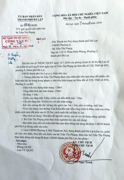 Nghi vấn Thành ủy viên Đà Lạt làm giả văn bản chỉ đạo 1