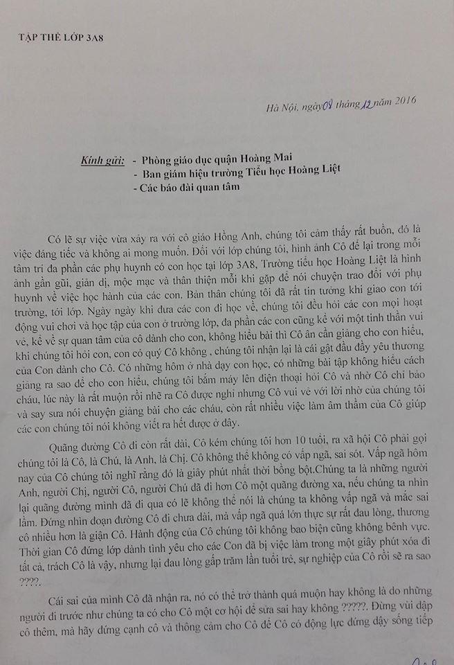 Tâm thư xúc động của phụ huynh có con bị cô giáo dán băng dính vào miệng 1