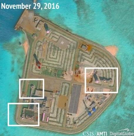 AMTI: Trung Quốc đặt vũ khí trên toàn bộ đảo nhân tạo ở Biển Đông 4
