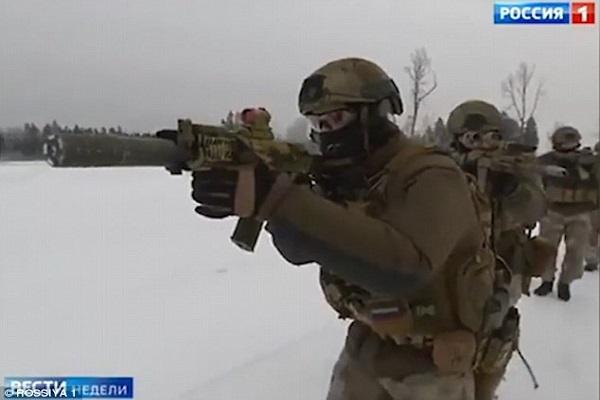 Đặc nhiệm tinh nhuệ Nga  nổ súng tiêu diệt phiến quân IS tại Syria 1
