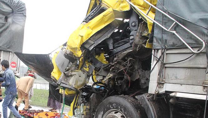 Tai nạn liên hoàn vì tránh đàn vịt, tài xế chết thảm trong cabin 1
