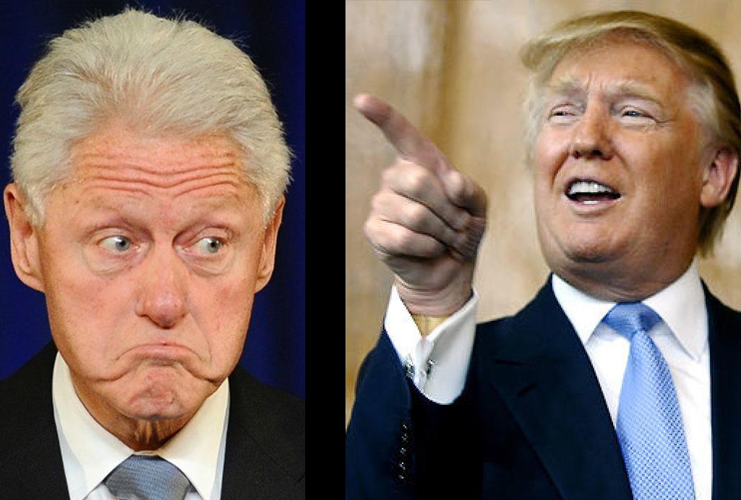 Cuộc đấu khẩu nảy lửa của Trump và Bill Clinton 1