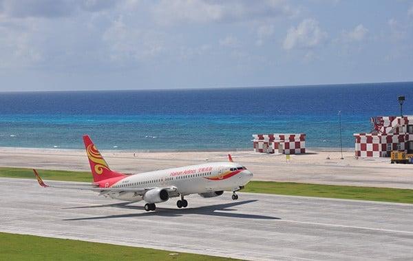 Hình ảnh Trung Quốc mở đường bay dân sự phi pháp ra đảo Phú Lâm số 1