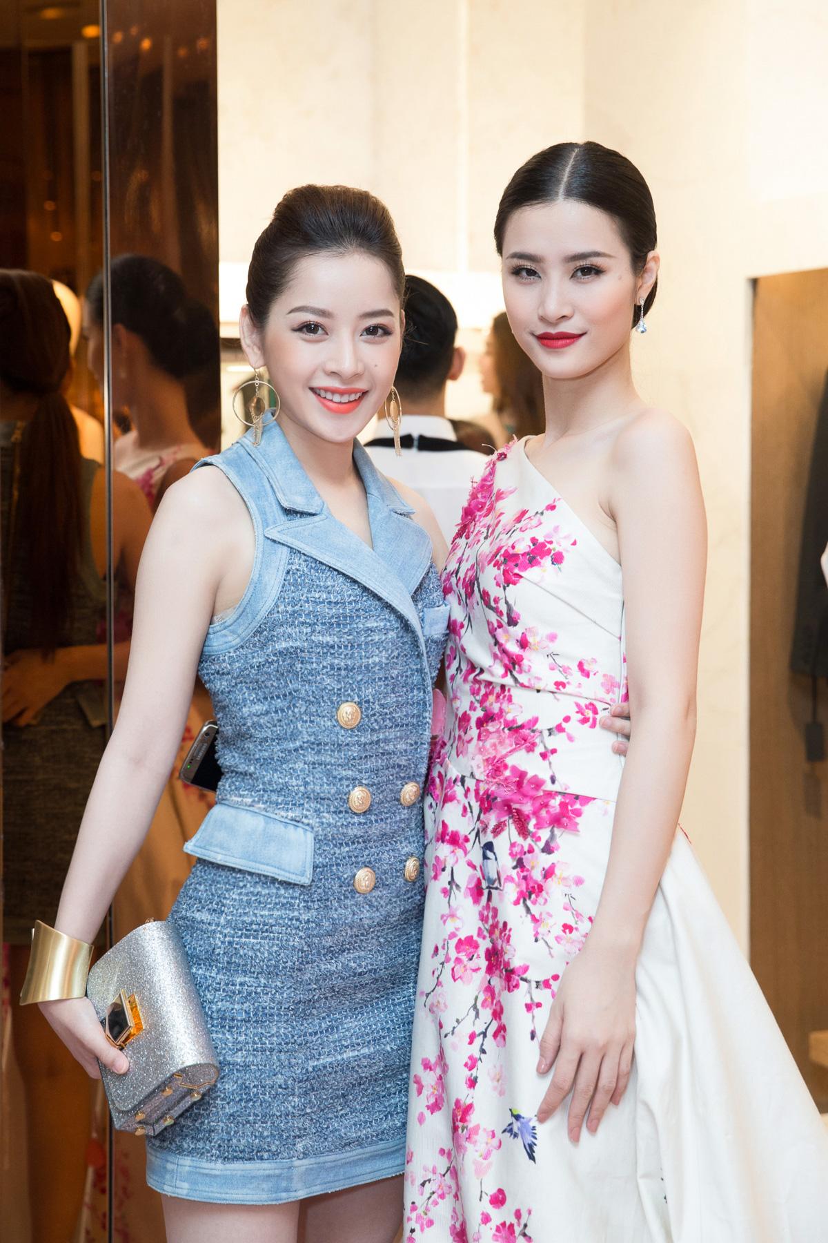 Hà Hồ, Chi Pu nổi bật dự sự kiện thời trang của bố mẹ chồng Hà Tăng 6