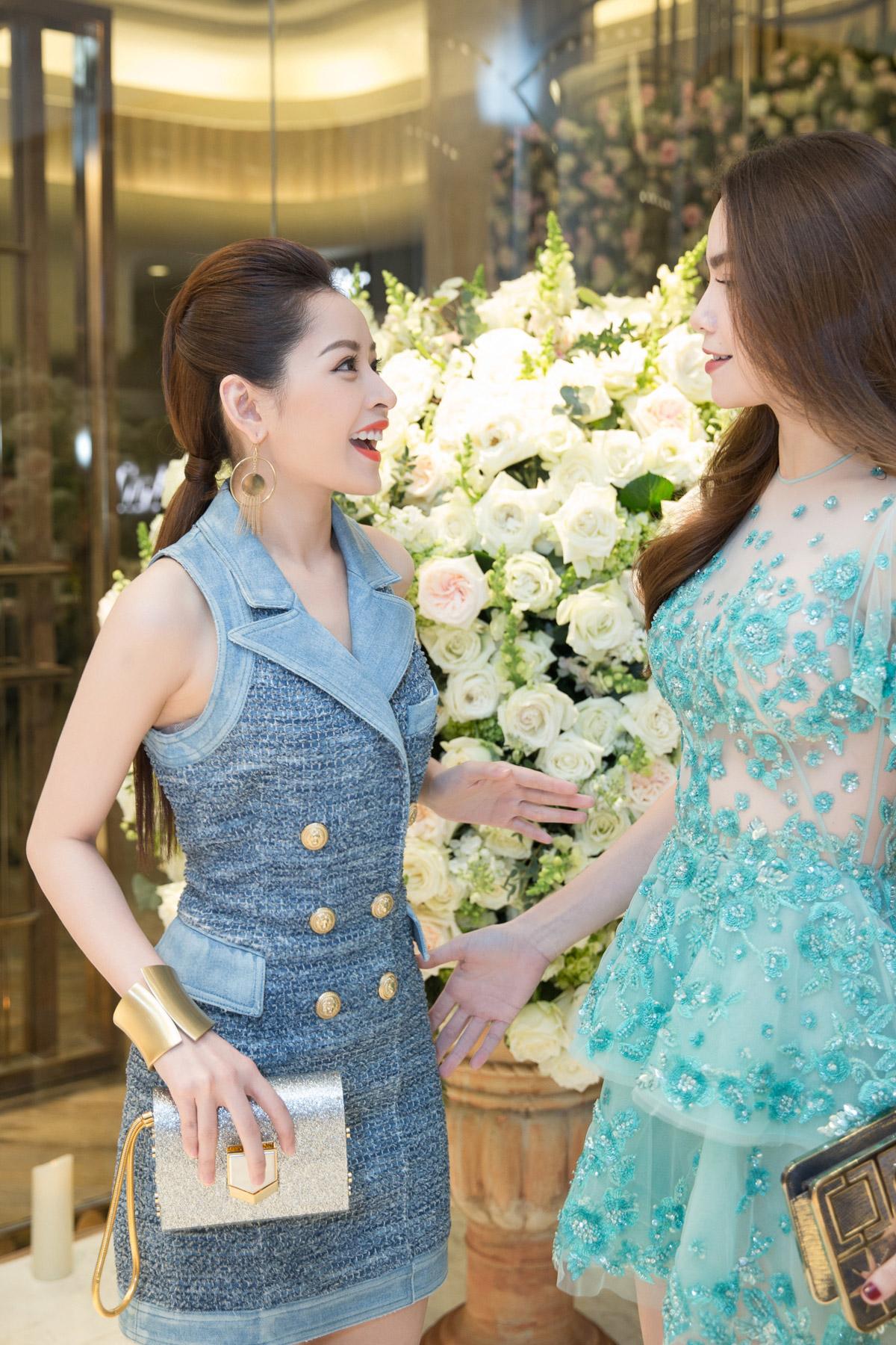 Hà Hồ, Chi Pu nổi bật dự sự kiện thời trang của bố mẹ chồng Hà Tăng 5