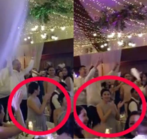 Tăng Thanh Hà lần đầu lộ bụng bầu trong đám cưới xa hoa của chị chồng 1
