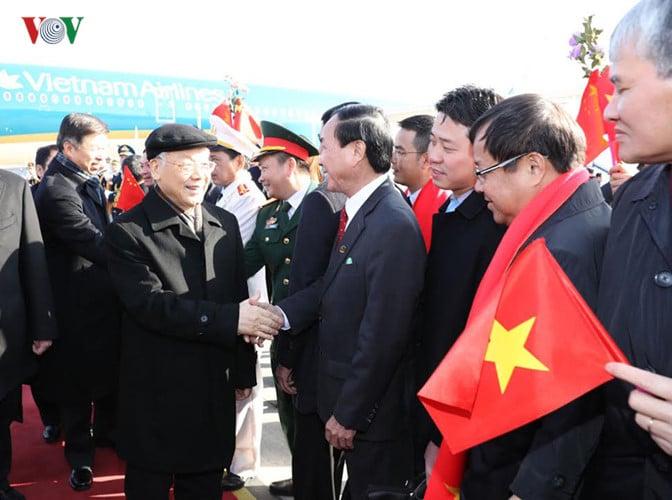 Lễ đón Tổng Bí thư Nguyễn Phú Trọng tại sân bay Bắc Kinh 3