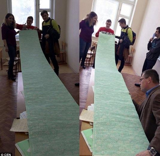 Hình ảnh Sinh viên sử dụng phao thi dài 3,6 mét số 1