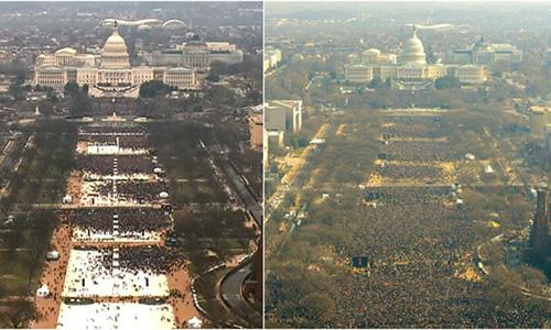 Sự thật bất ngờ về số người tham dự lễ nhậm chức của Trump 3