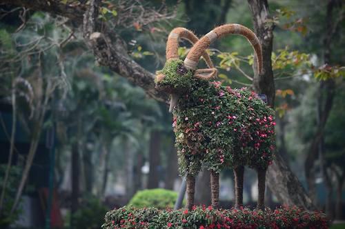 Hà Nội lần đầu tiên có 12 con giáp khổng lồ bằng hoa lập thể 2